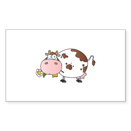 Cow Sticker (Rectangle)