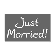 Just Married Bumper Magnet Car Magnet 20 x 12