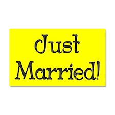 Just Married Bumper Magnet Car Magnet 20 x 12