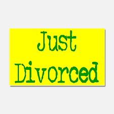Just Divorced Bumper Magnet Car Magnet 20 x 12