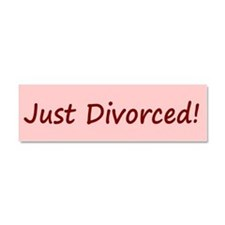 Just Divorced Bumper Magnet Car Magnet 10 x 3