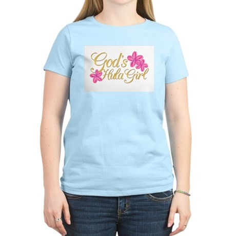 God's Hula Girl Women's Pink T-Shirt
