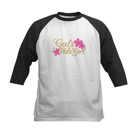 God's Hula Girl Kids Baseball Jersey
