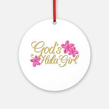 God's Hula Girl Ornament (Round)