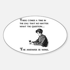 The answer is wine Sticker (Oval)