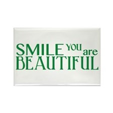 Smile you are Beautiful, Jade Rectangle Magnet