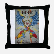 Hope - Keeps the pieces together Throw Pillow
