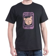 Year of The Pig Black T-Shirt