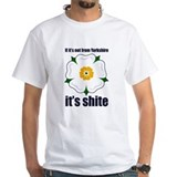 South yorkshire white rose Mens White T-shirts