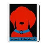 Red Lab On Black Mousepad