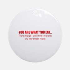 You are what you eat... Ornament (Round)