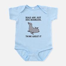 Seals are just dog mermaids. Infant Bodysuit