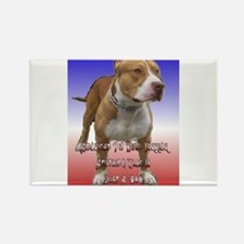 Funny Staffordshire dog breed Rectangle Magnet