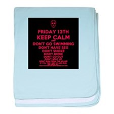 Friday is the 13th baby blanket