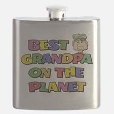 Best Grandpa On The Planet Flask