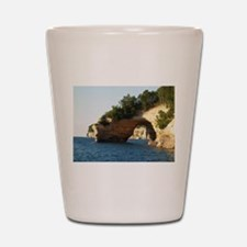 Pictured Rocks Shot Glass