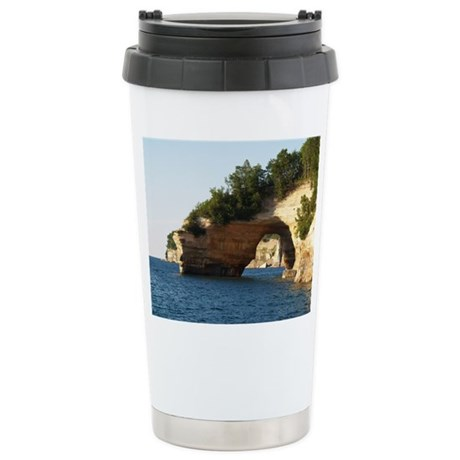 Pictured Rocks Stainless Steel Travel Mug