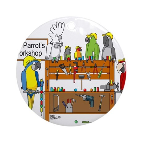 The Parrot's Workshop Logo Ornament (Round)
