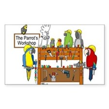 The Parrot's Workshop Logo Decal
