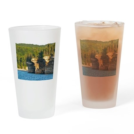 Pictured Rocks A Drinking Glass