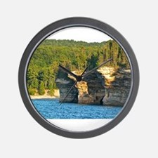 Pictured Rocks A Wall Clock
