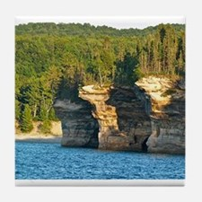 Pictured Rocks A Tile Coaster