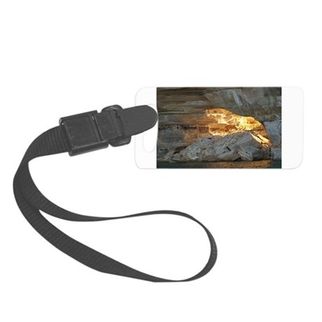 Pictured Rocks B Small Luggage Tag