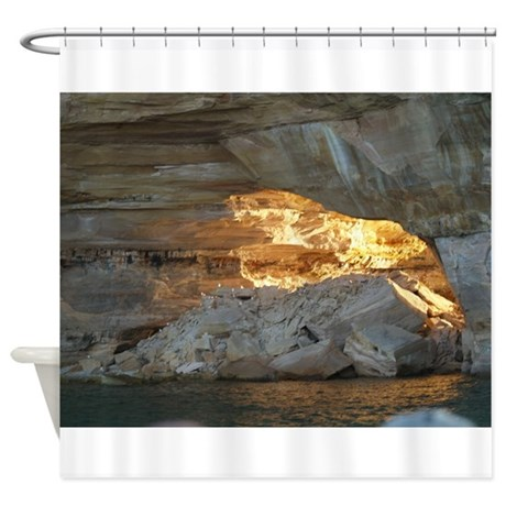 Pictured Rocks B Shower Curtain