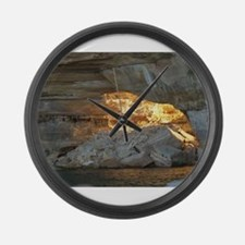 Pictured Rocks B Large Wall Clock
