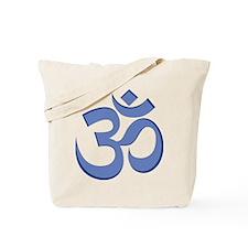 Om, Blue Tote Bag