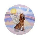 Clouds - Bloodhound Angel Ornament (Round)