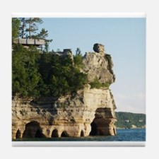 Pictured Rocks C Tile Coaster