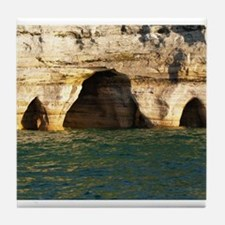 Pictured Rocks D Tile Coaster