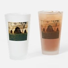 Pictured Rocks D Drinking Glass
