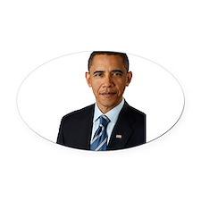 Obamacu.png Oval Car Magnet