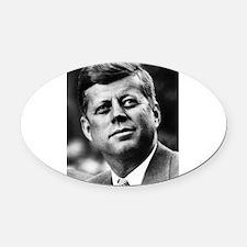 John_F._Kennedy.png Oval Car Magnet