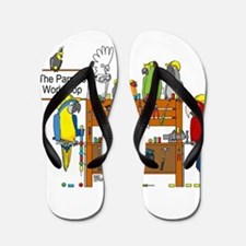 The Parrot's Workshop Logo Flip Flops