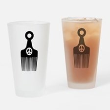 Afro Hair Peace Drinking Glass