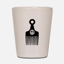Afro Hair Peace Shot Glass
