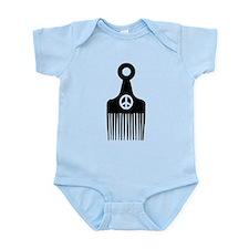 Afro Hair Peace Infant Bodysuit
