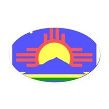 270px-Roswell_flag.svg.png Oval Car Magnet