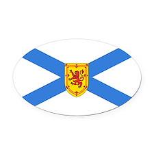 Nova Scotia.png Oval Car Magnet