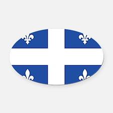 Quebec.png Oval Car Magnet