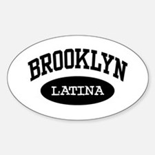 Brooklyn Latina Oval Decal