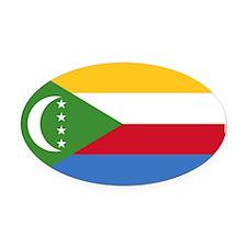 the_Comoros.svg.png Oval Car Magnet