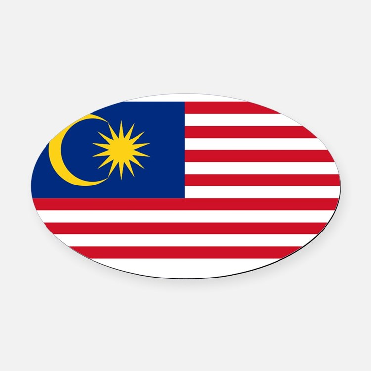 Malaysia.svg.png Oval Car Magnet