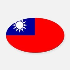 the_Republic_of_China.svg.png Oval Car Magnet