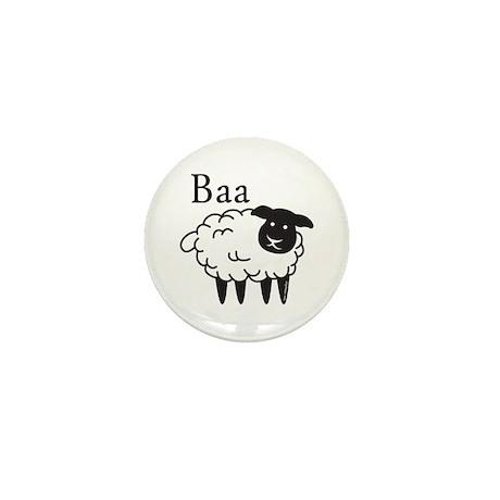 Baa Mini Button (10 pack)