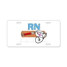 RN Blue.PNG Aluminum License Plate