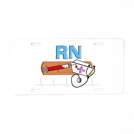 RN Blue.PNG Aluminum License Plate